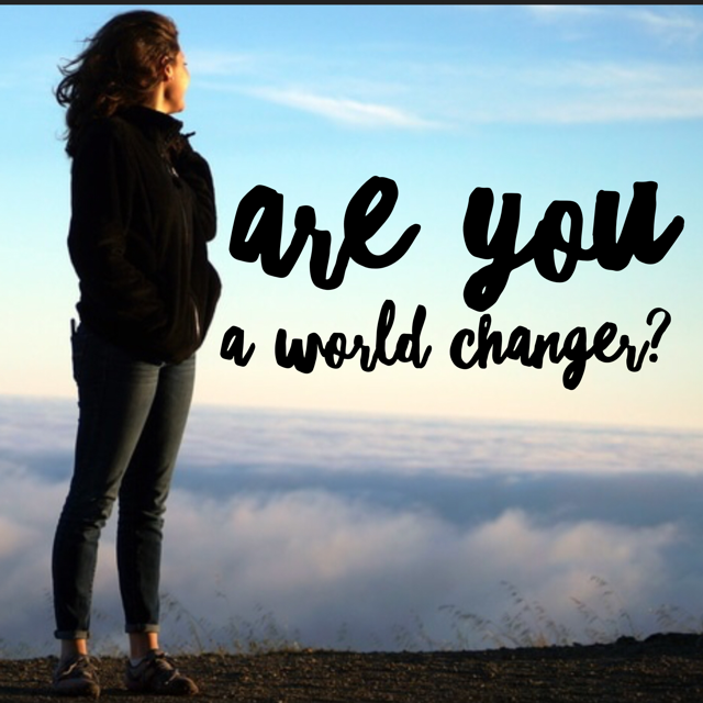Do You Want To Be A World Changer?
